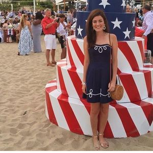 Lilly Pulitzer Navy Anchor and Rope Blossom Dress